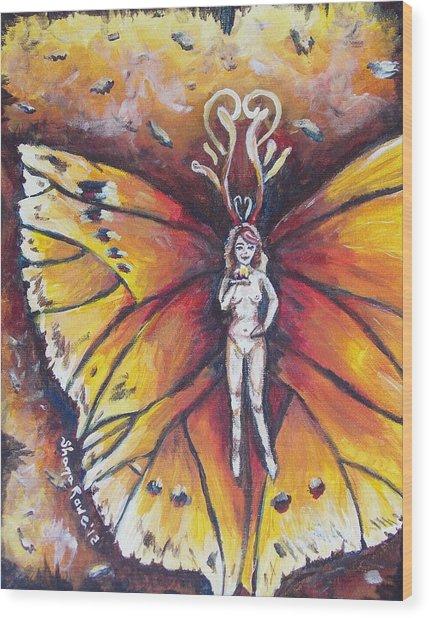Free As The Flame Wood Print