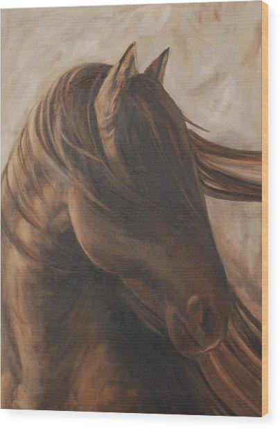 Free Gal Wood Print by Carol Grieve