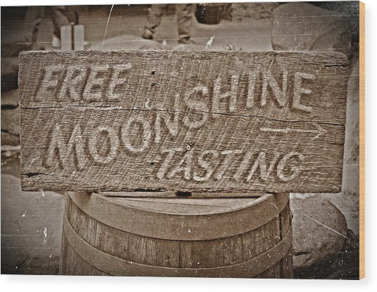 Free Moonshine Wood Print