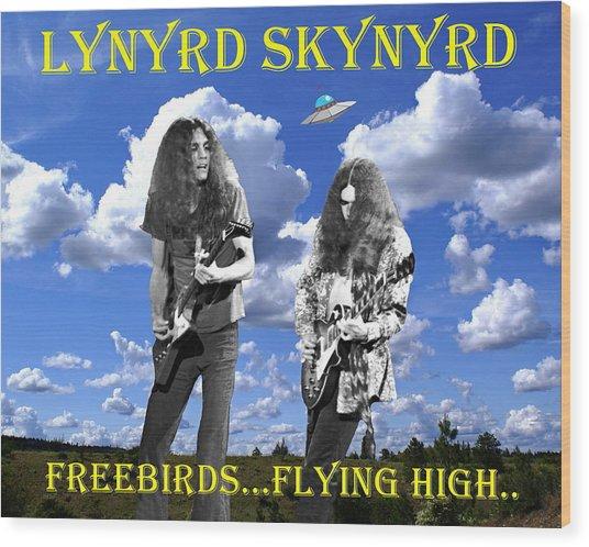 Freebirds Flying High Wood Print