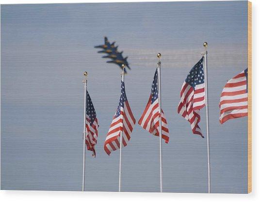 Freedom Flying Wood Print