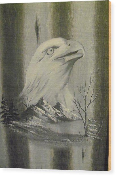 Freedom Hunter Wood Print by Ricky Haug