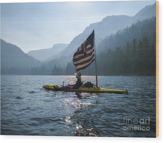 Freedom Of The Sierras Wood Print by Cheryl Wood