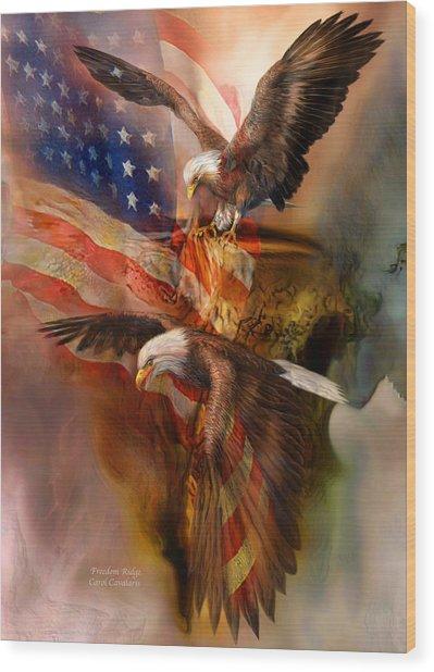 Freedom Ridge Wood Print