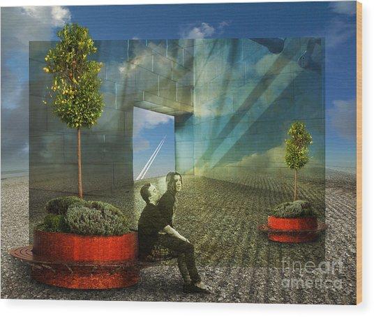 Freedom Window Wood Print