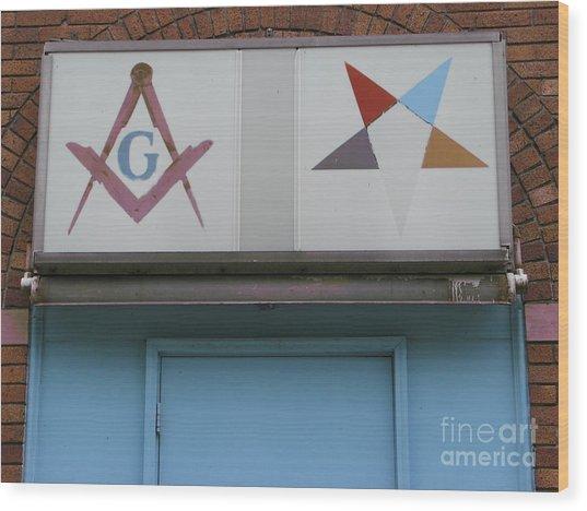 Freemasons Wood Print