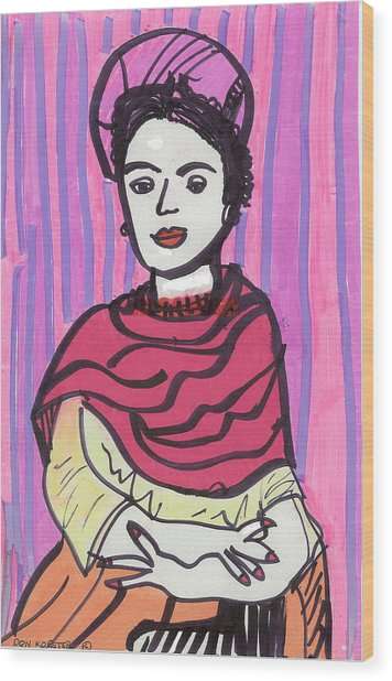 Frida Kahlo Wood Print