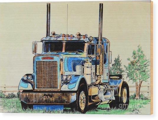 Freightliners Wood Print
