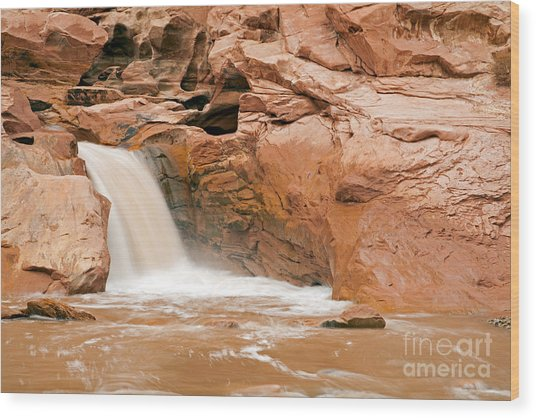 Fremont River Falls Capitol Reef National Park Wood Print