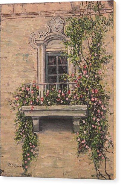 French Balcony Wood Print