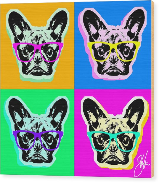 French Bulldog Pop Art Wood Print
