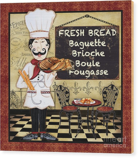 French Chef-a Wood Print