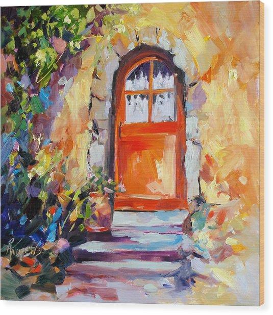 French Door Wood Print by Rae Andrews