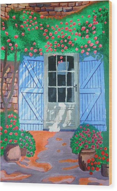 French Farm Yard Wood Print