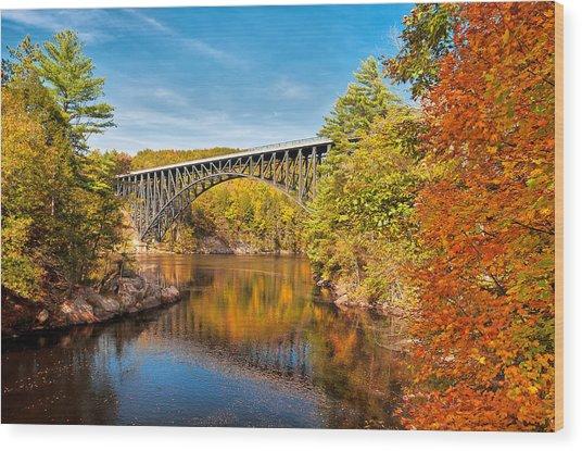 French King Bridge In Autumn Wood Print
