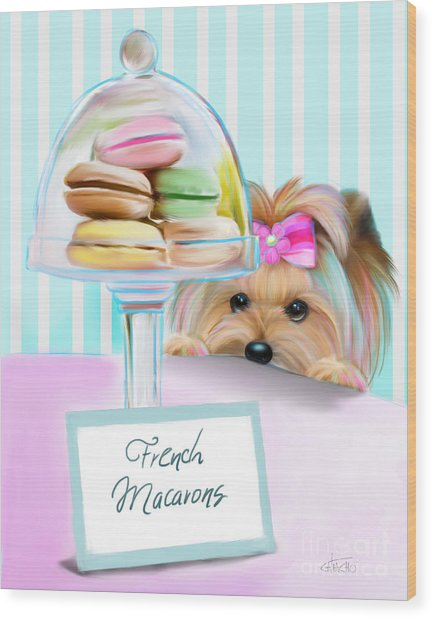 French Macarons Wood Print