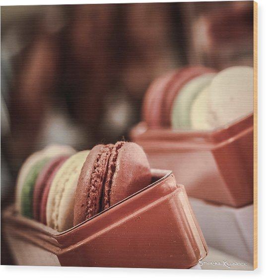 Wood Print featuring the photograph French Macaroons by Stwayne Keubrick