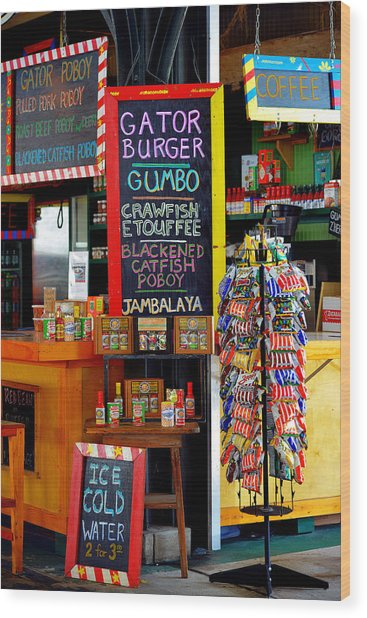 French Market New Orleans Wood Print