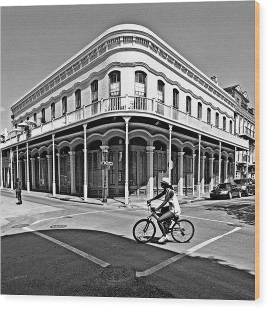 French Quarter Connection Wood Print