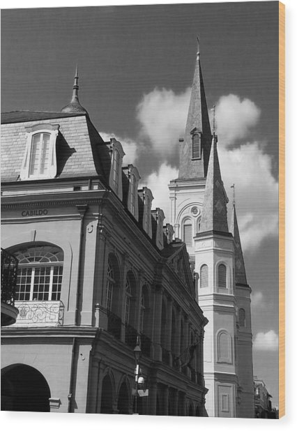 French Quarter - New Orleans Wood Print by Mike Barch