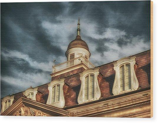 French Quarter Skies Wood Print