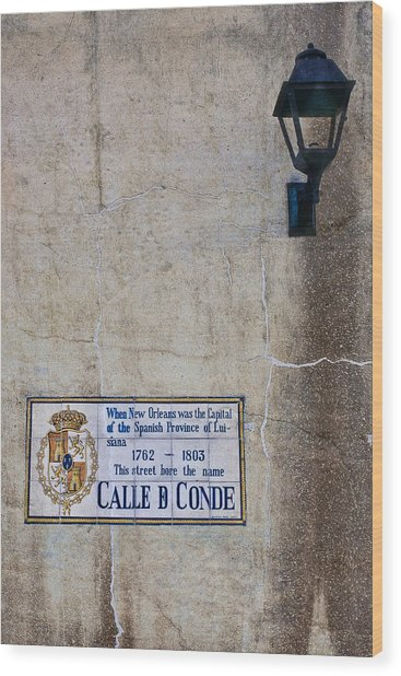 French Quarter Street Sign Wood Print by Ray Devlin