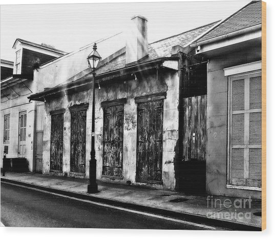 French Quarter Study 1 Wood Print