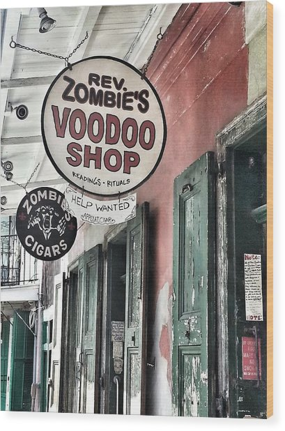 French Quarter Voodoo Shop Wood Print by Mike Barch