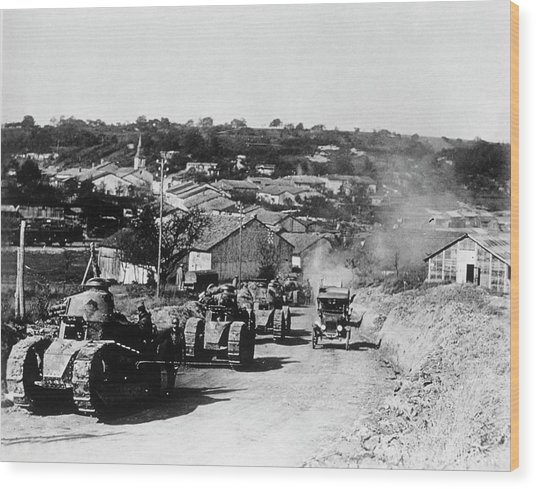 French Tanks Wood Print by Library Of Congress/science Photo Library