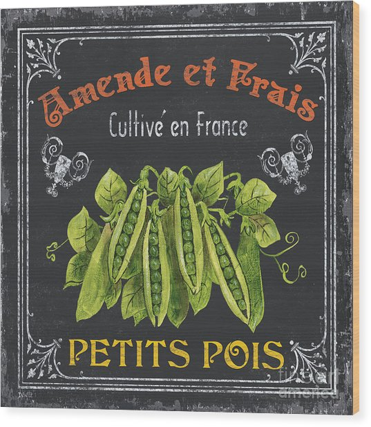 French Vegetables 2 Wood Print