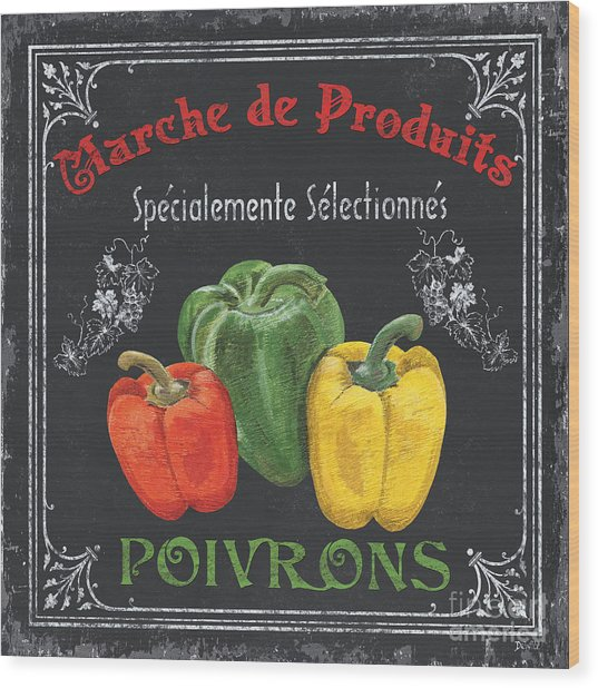 French Vegetables 3 Wood Print
