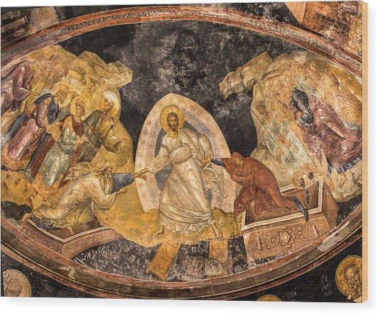 Fresco In Chora Church In Istanbul Wood Print