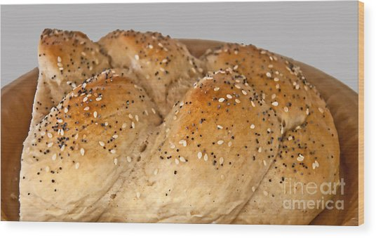 Fresh Challah Bread Art Prints Wood Print