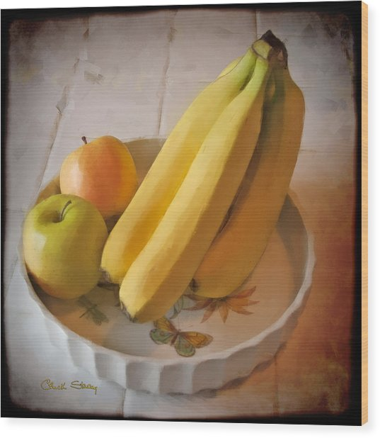 Fresh Fruit Wood Print by Chuck Staley
