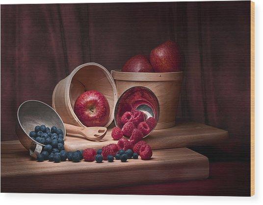 Fresh Fruits Still Life Wood Print