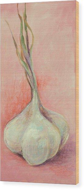 Fresh Garlic Wood Print by Kelley Smith