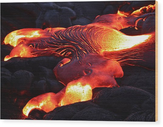 Fresh Lava Flow Wood Print