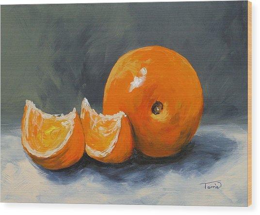 Fresh Orange IIi Wood Print