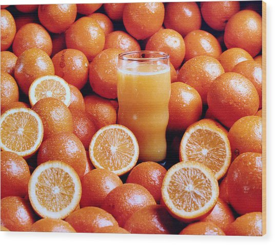 Fresh Orange Juice Wood Print