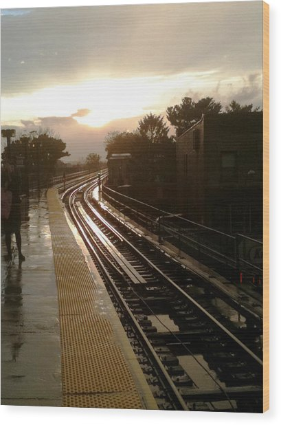 Fresh Pond Rd Station Wood Print
