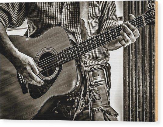 Frettin' Wood Print