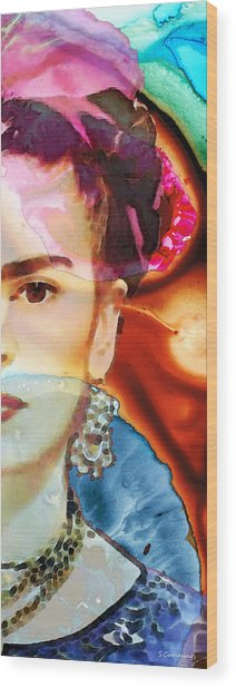 Frida Kahlo Art - Seeing Color Wood Print