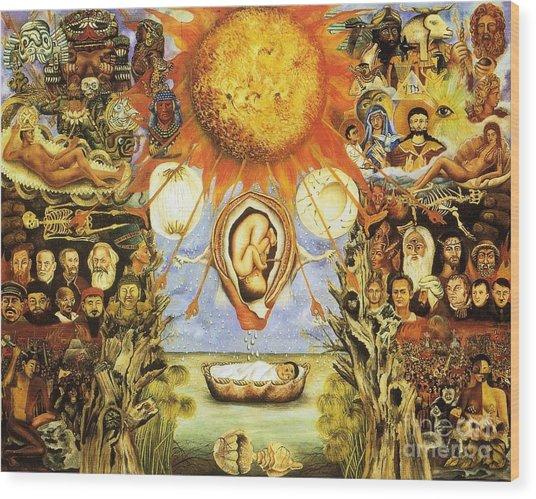 Frida Kahlo Moses Wood Print