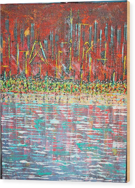 Friday At The Beach - Sold Wood Print