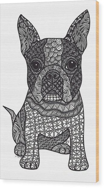 Friend - Boston Terrier Wood Print