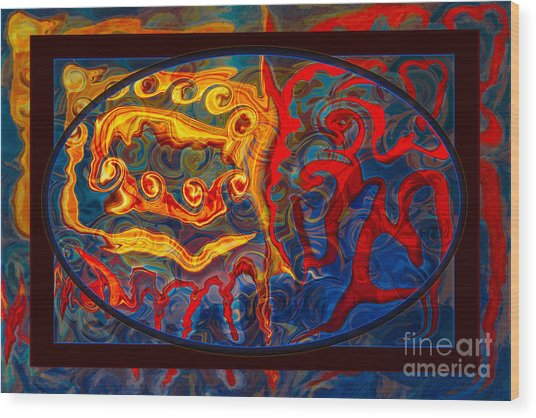 Friendship And Love Abstract Healing Art Wood Print