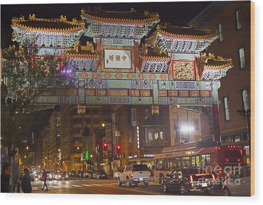 Friendship Archway In Chinatown Wood Print