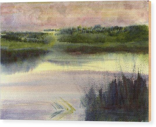 Fripp Marsh Wood Print