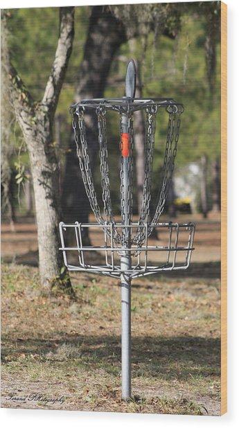 Frisbee Golf Wood Print