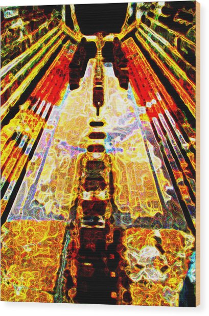 Fritz Lang's Metropolis Yet Stands Wood Print